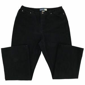 Liz Claiborne Black Bootcut Jeans (14S)